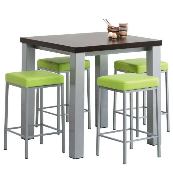 Table de cuisine snack carr e en stratifi quadra 4 pieds tables chais - Table cuisine carree ...