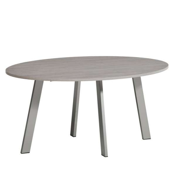 Table de cuisine ovale en stratifié - Elias 2 - 2