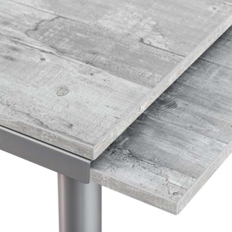 table de cuisine en stratifié avec rallonges - basic - 4 pieds