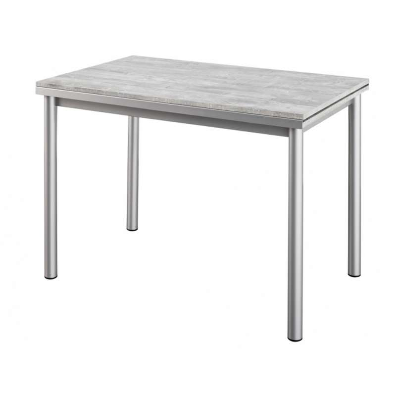 Table de cuisine en stratifi avec rallonges basic with for Petite table ronde cuisine