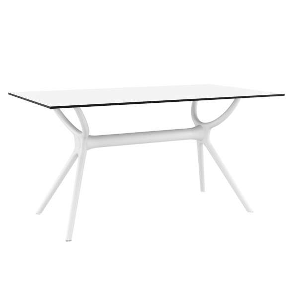 Table de terrasse rectangulaire en stratifié et polypropylène - Air