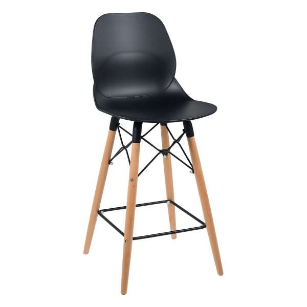 tabouret design snack en polypropyl ne et bois victoire 4 pieds tables chaises et tabourets. Black Bedroom Furniture Sets. Home Design Ideas