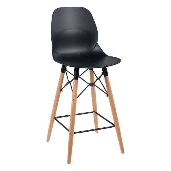 tabouret design snack en polypropyl ne avec pieds en bois. Black Bedroom Furniture Sets. Home Design Ideas