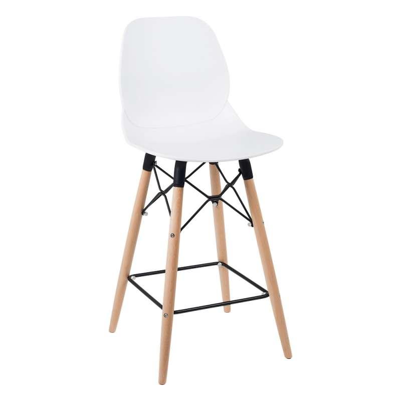 tabouret design snack en polypropyl ne et bois victoire 4 pieds tables chaises et tabourets. Black Bedroom Furniture Sets. Home Design Ideas