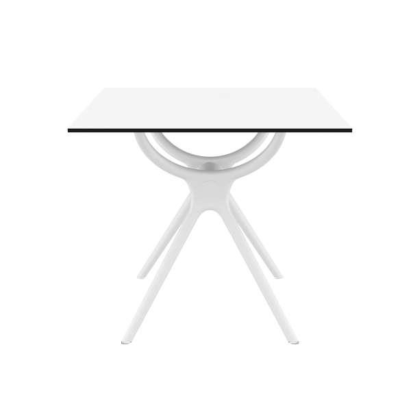 Table de jardin carrée en stratifié et polypropylène - Air - 2