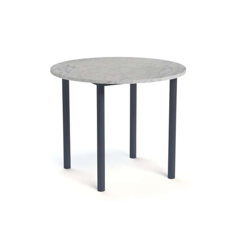 table snack de cuisine ronde en stratifi lustra 4. Black Bedroom Furniture Sets. Home Design Ideas