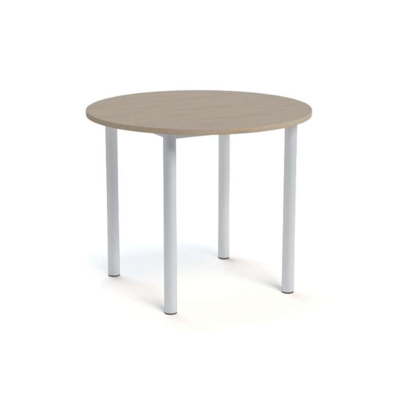 table snack de cuisine ronde en stratifi lustra 4 pieds tables chaises et tabourets. Black Bedroom Furniture Sets. Home Design Ideas
