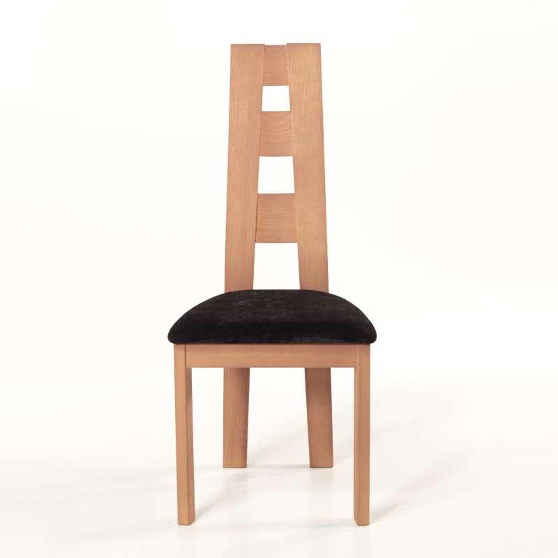 Chaise de s jour de fabrication fran aise tissu et bois for Chaise sejour but