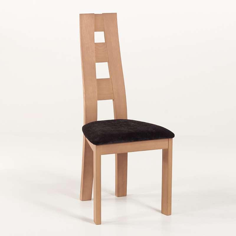Chaise de s jour de fabrication fran aise tissu et bois for Table et chaise de sejour