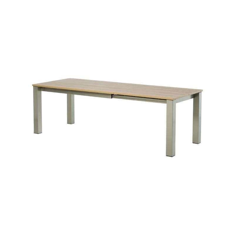 Table de cuisine rectangle extensible en stratifi vario for Table extensible cuisine