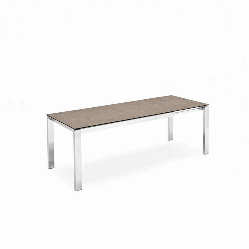 table extensible en c ramique et m tal baron connubia 4. Black Bedroom Furniture Sets. Home Design Ideas