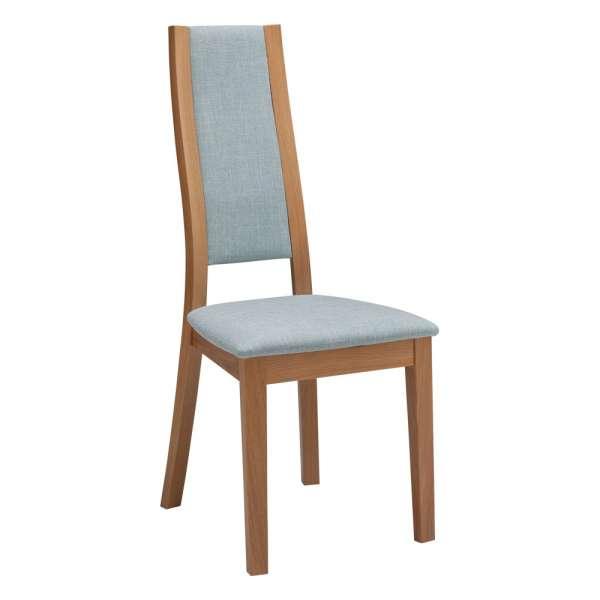 Chaise française de salle à manger contemporaine en bois et tissu – Camélia