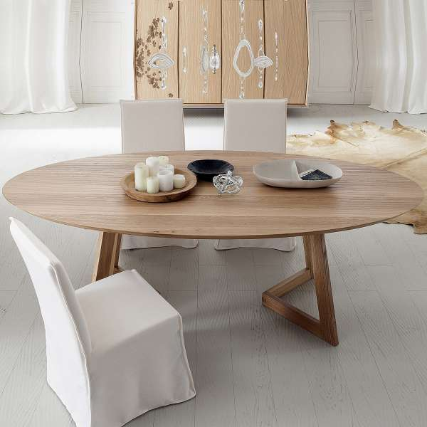 table design ovale en bois massif toledo seven 4. Black Bedroom Furniture Sets. Home Design Ideas