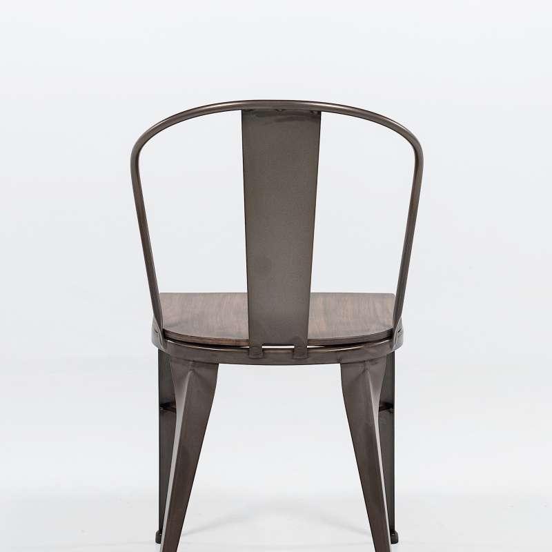 chaise industrielle vintage en m tal 631 4. Black Bedroom Furniture Sets. Home Design Ideas