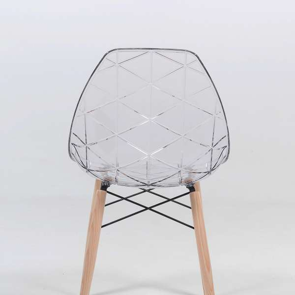 Chaise design transparente home design architecture for Chaise medaillon transparente