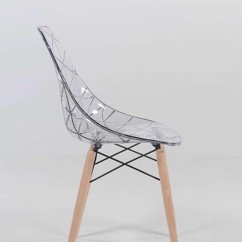 chaise design coque transparente et bois prisma 4 pieds tables chaises et tabourets. Black Bedroom Furniture Sets. Home Design Ideas