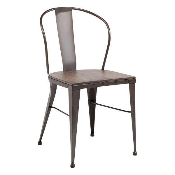 Chaise Industrielle Vintage En Mtal
