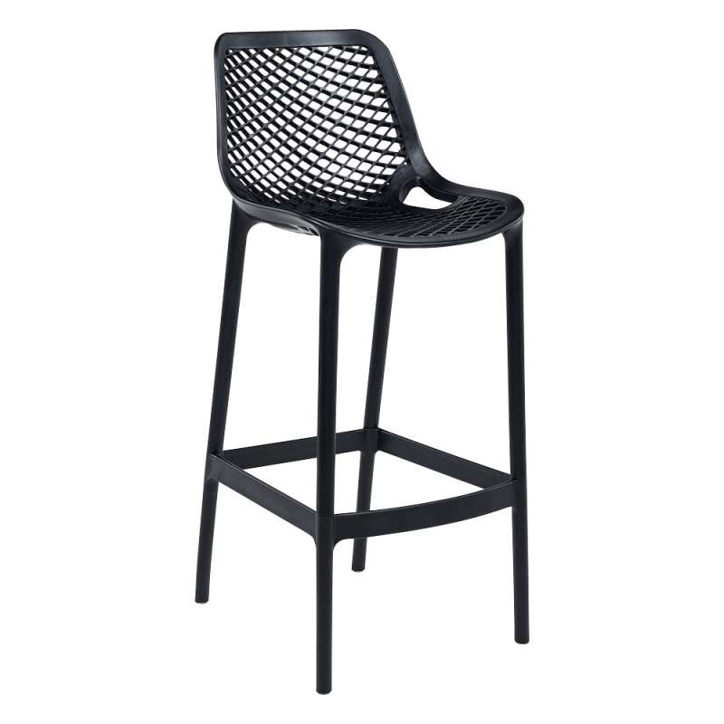 tabouret de jardin moderne ajour en polypropyl ne air 4 pieds tables chaises et tabourets. Black Bedroom Furniture Sets. Home Design Ideas