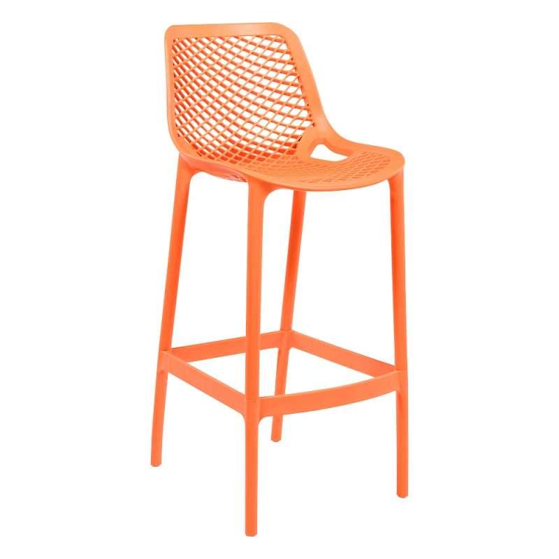 Tabouret De Bar Moderne En Polypropylne Orange