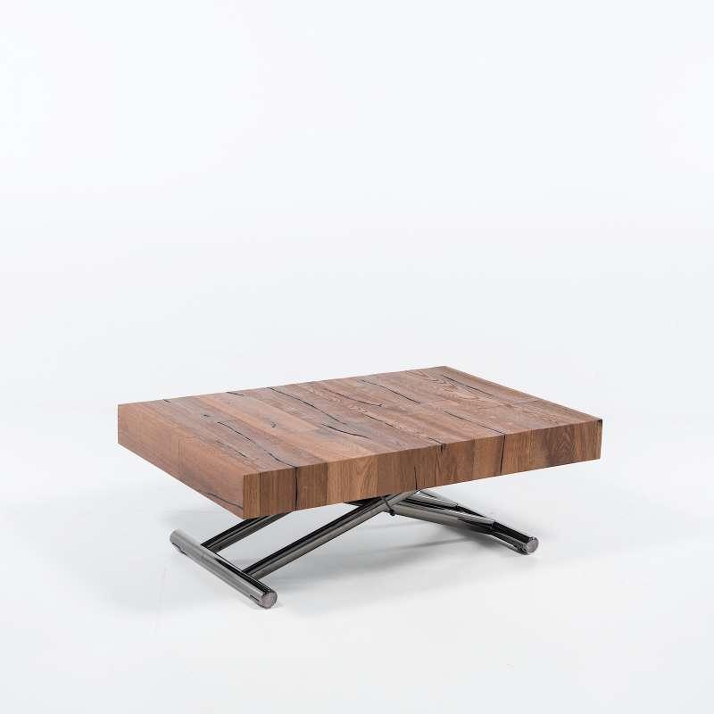table relevable extensible pour petit espace en bois. Black Bedroom Furniture Sets. Home Design Ideas