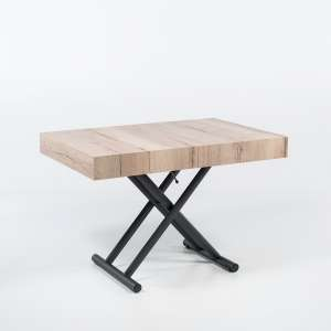 Table relevable extensible en mélaminé natural halifax n20 piétement graphite m11  - Ulisse