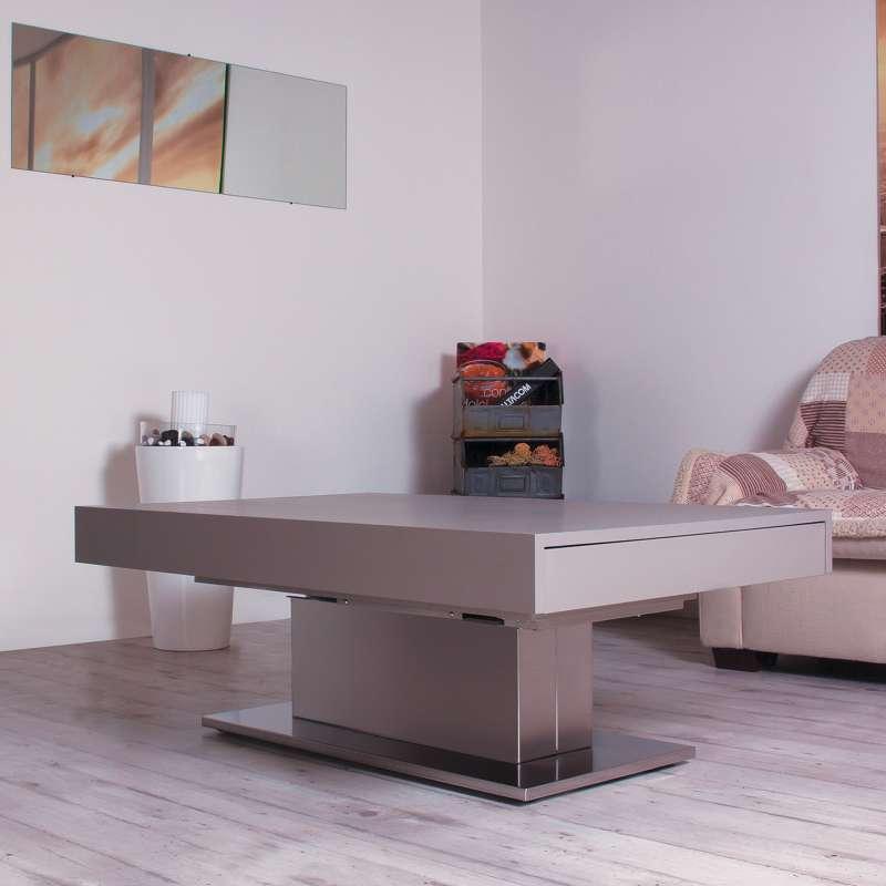 Table modulable extensible réglable en hauteur en bois et métal ... 204947fe0683