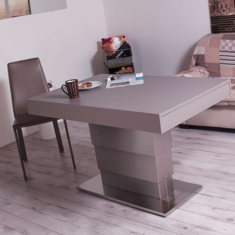 table modulable extensible en bois et m tal ares motorius 4 pieds tables chaises et tabourets. Black Bedroom Furniture Sets. Home Design Ideas