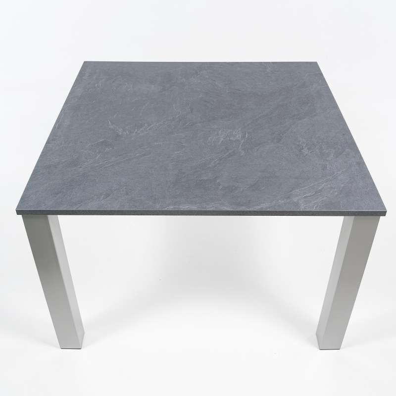 table de cuisine carr e en stratifi et m tal quinta 4. Black Bedroom Furniture Sets. Home Design Ideas