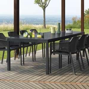 Table de jardin extensible en polypropylène DurelTop et aluminium - Rio