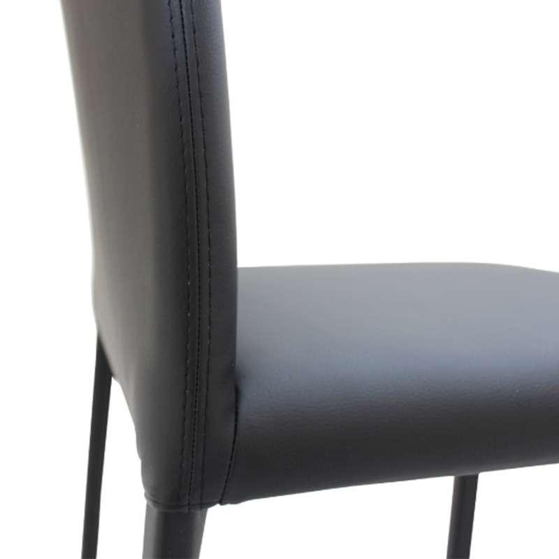 chaise de salle manger en vinyle marion h 2 chaise de sjour en vinyle marion h 3