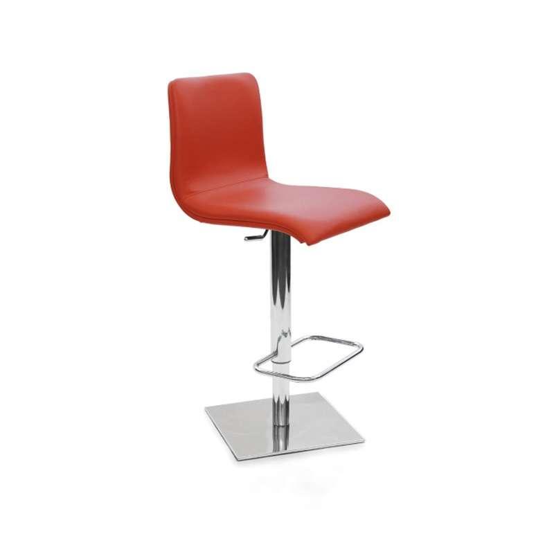 tabouret r glable en hauteur en synth tique et m tal chrom rio 4 pieds tables chaises et. Black Bedroom Furniture Sets. Home Design Ideas