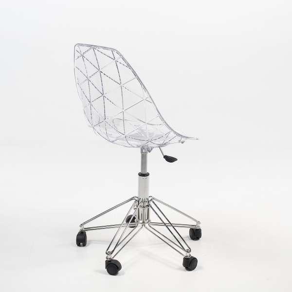 Chaise design sur roulettes - Prisma - 5