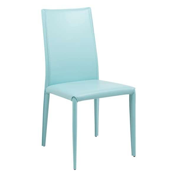 Chaise contemporaine en croûte de cuir - Kesha