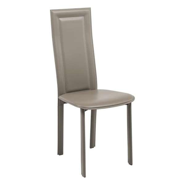 chaise contemporaine en cro te de cuir cl105 4 pieds tables chaises et tabourets. Black Bedroom Furniture Sets. Home Design Ideas