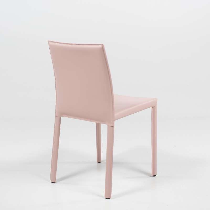 Chaise de s jour en cro te de cuir iris 4 pieds for Chaise sejour but