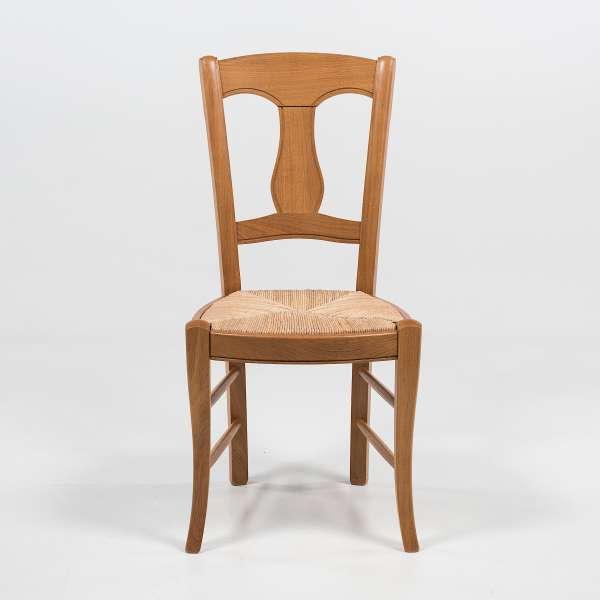 chaise rustique en paille de seigle et ch ne massif 263 4. Black Bedroom Furniture Sets. Home Design Ideas