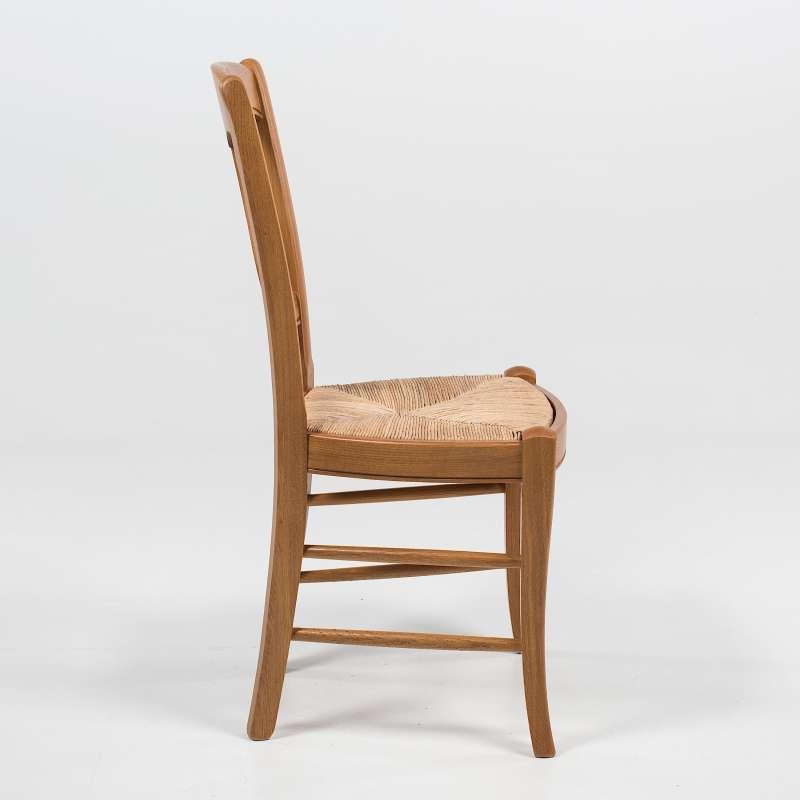 Chaise rustique en paille de seigle et ch ne massif 263 for Chaise rustique bois et paille
