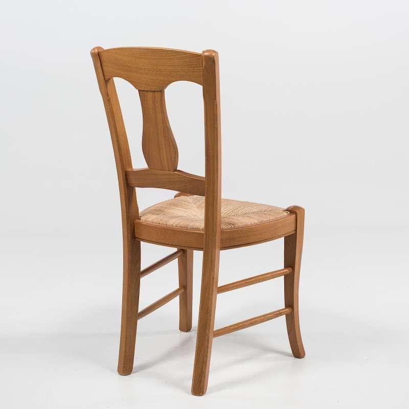 chaise rustique en paille de seigle et ch ne massif 263 4 pieds tables chaises et tabourets. Black Bedroom Furniture Sets. Home Design Ideas