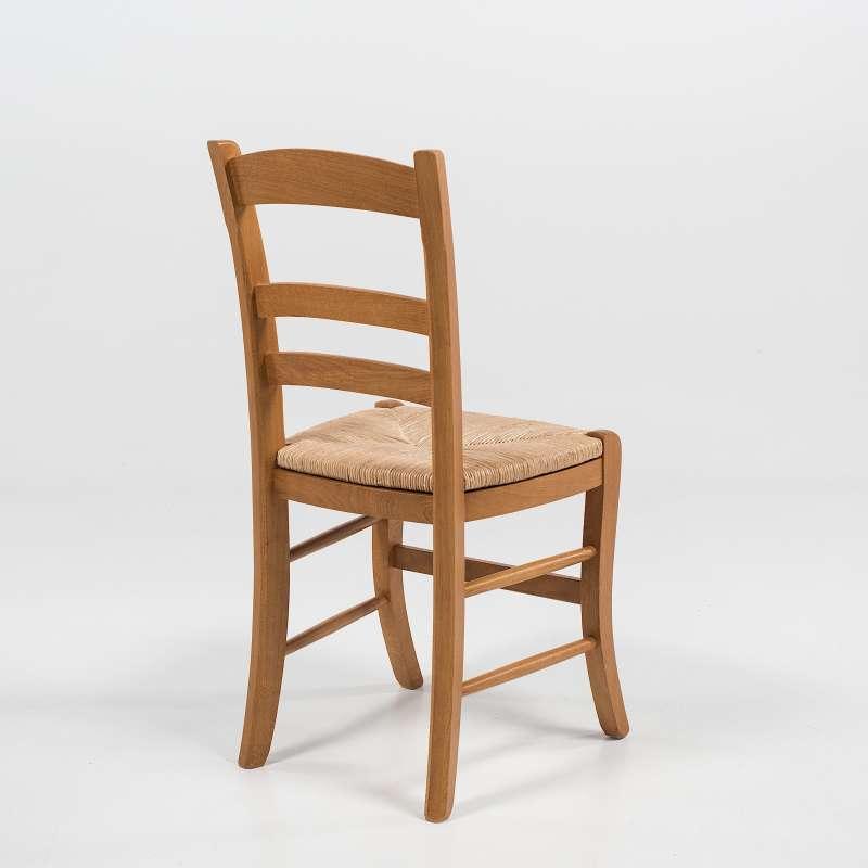 Chaise rustique en ch ne et paille de seigle 370 4 for Chaise rustique bois et paille