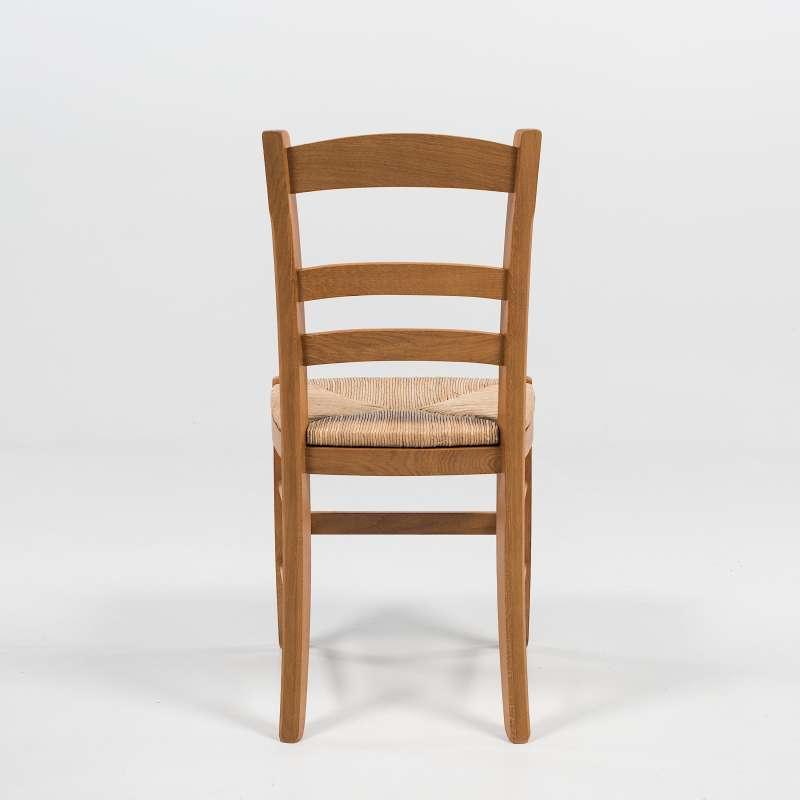 chaise rustique en ch ne et paille de seigle 370 4 pieds tables chaises et tabourets. Black Bedroom Furniture Sets. Home Design Ideas