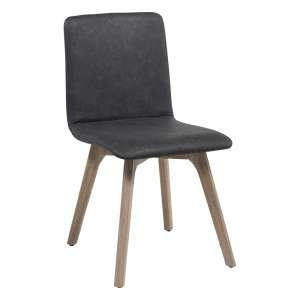 Chaise de séjour scandinave en synthétique et bois - Plaza 2