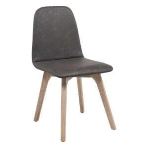 Chaise de salle à manger scandinave en synthétique et bois - Pandora