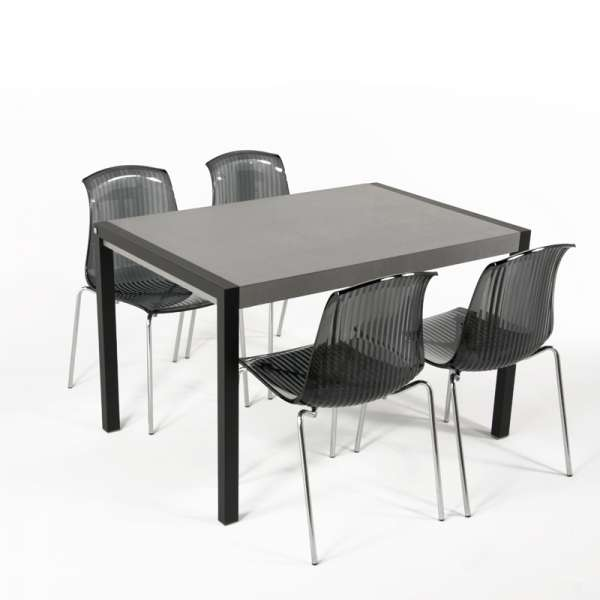 table en c ramique extensible concept m tal 4. Black Bedroom Furniture Sets. Home Design Ideas