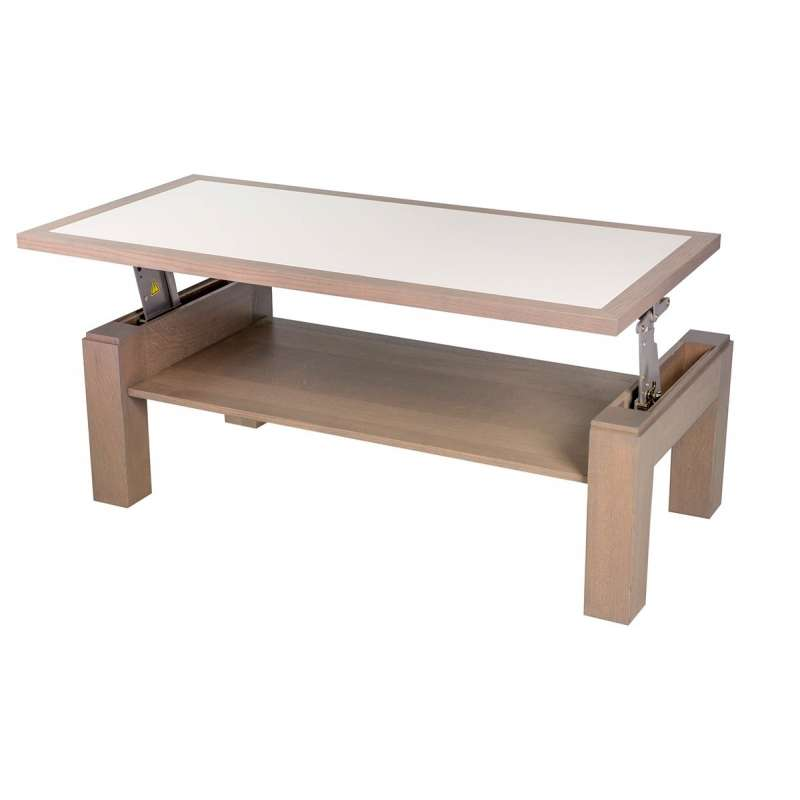Table basse rectangulaire modulable en bois et c ramique - Table basse ceramique design ...