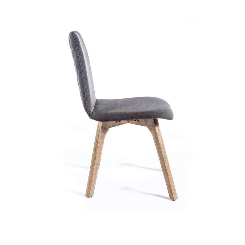 chaise de s jour moderne en tissu dos matelass pandora 2 4. Black Bedroom Furniture Sets. Home Design Ideas