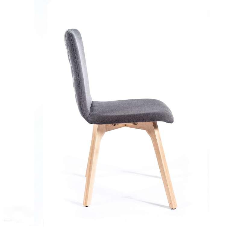 chaise de s jour moderne en tissu dos matelass plaza 2 4. Black Bedroom Furniture Sets. Home Design Ideas