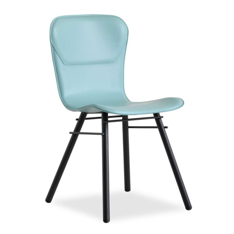 Chaise r tro design en cro te de cuir et m tal avenue - Chaise metal et cuir ...