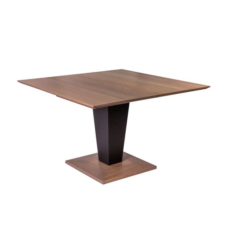 Table carr e moderne extensible en bois philae 4 pieds for Table carree extensible