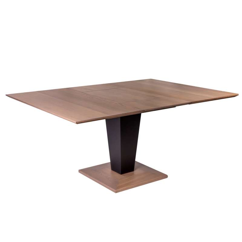 Table carr e moderne extensible en bois philae 4 pieds for Table extensible 4 chaises