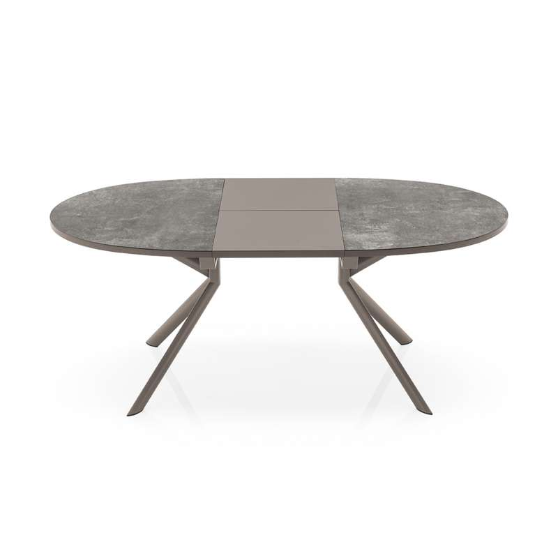Table ovale extensible en c ramique giove connubia 4 for Table extensible 4 chaises